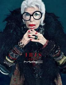 """I'm the oldest living broad that ever graced the campaign for cosmetics"" --- Iris Apfel"