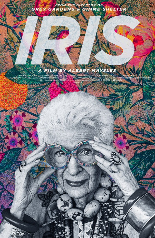 Starring in the documentary 'Iris' which releases today in selected theaters.
